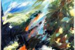 Fronde, 70x100cm, olio su tela