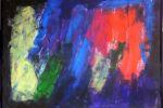 Sentire la notte II, 100x125cm, acrilico su cartone